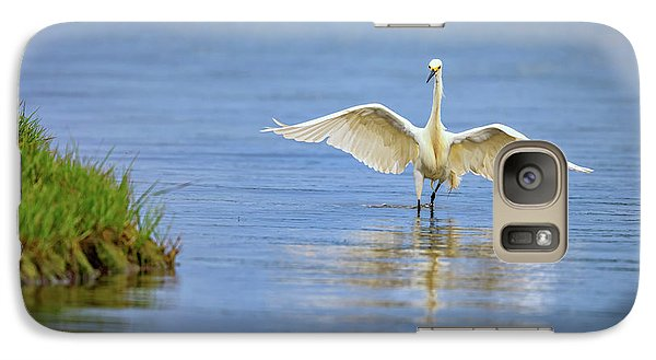An Egret Spreads Its Wings Galaxy S7 Case