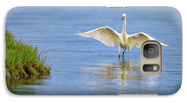 An Egret Spreads Its Wings Galaxy S7 Case by Rick Berk