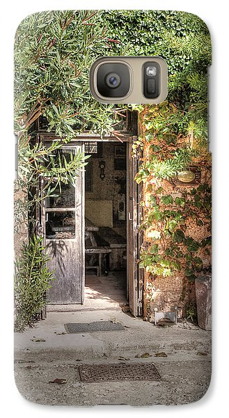 Galaxy Case featuring the photograph An Entrance In Santorini by Tom Prendergast