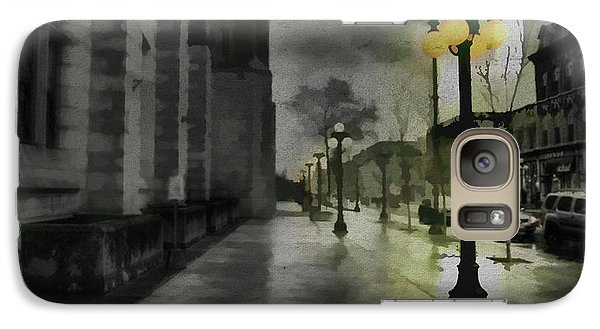 Galaxy Case featuring the mixed media An Evening In Paris by Jim  Hatch