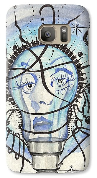 Galaxy Case featuring the digital art An Idea by Darren Cannell