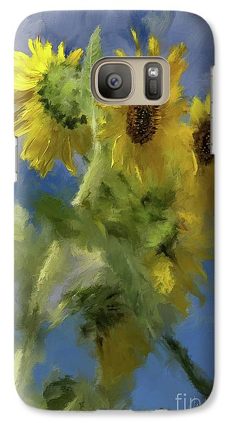 Galaxy Case featuring the photograph An Impression Of Sunflowers In The Sun by Lois Bryan