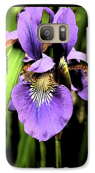 Galaxy Case featuring the photograph An Iris Portrait - Botanical by Margie Avellino