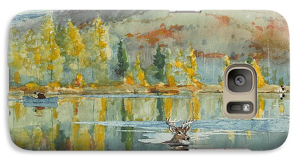 Galaxy Case featuring the painting An October Day by Winslow Homer