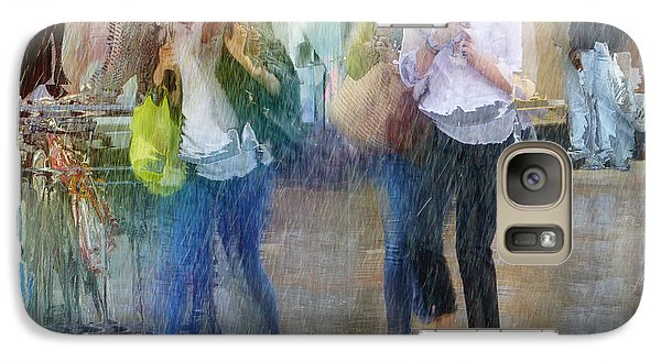Galaxy Case featuring the photograph An Odd Sharp Shower by LemonArt Photography