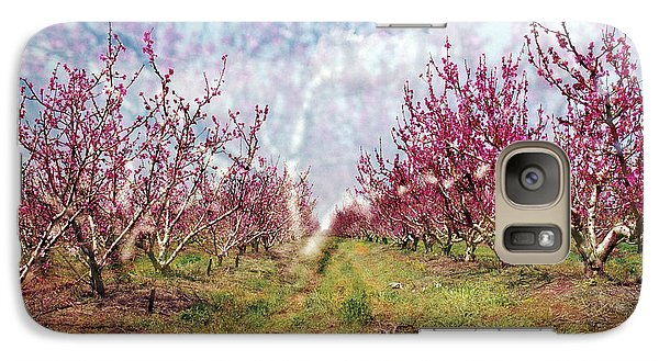 An Orchard In Blossom In The Golan Heights Galaxy S7 Case