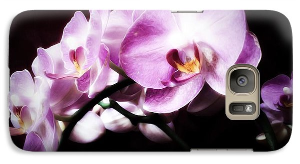 Galaxy Case featuring the mixed media An Orchid For You by Gabriella Weninger - David
