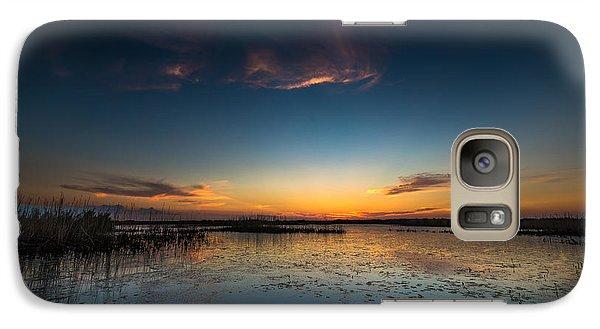Galaxy Case featuring the photograph Anahuac Sundown by Allen Biedrzycki