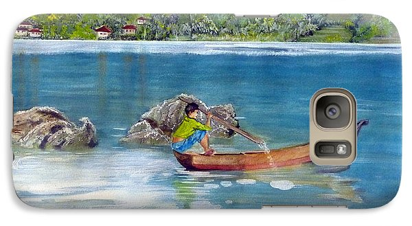 Galaxy Case featuring the painting Anak Dan Perahu by Melly Terpening