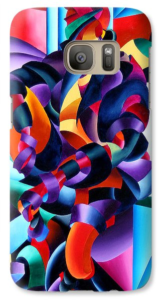Galaxy Case featuring the painting Anamorphosis From The Outside In by Mark Webster