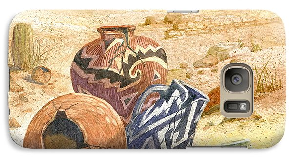 Galaxy Case featuring the painting Anasazi Remnants by Marilyn Smith