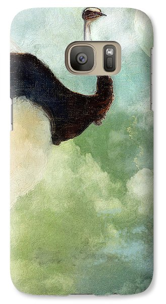 Ostrich Galaxy S7 Case - Anastasia's Ostrich by Mindy Sommers