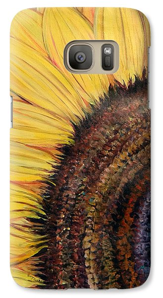 Galaxy Case featuring the painting Anatomy Of A Sunflower by Ecinja Art Works