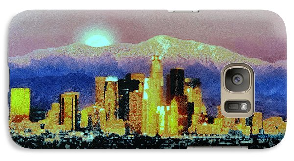 Galaxy Case featuring the digital art Anchorage-subdued by Elaine Ossipov