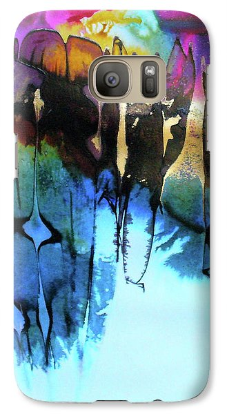 Galaxy Case featuring the painting Ancient Echoes by Mary Sullivan