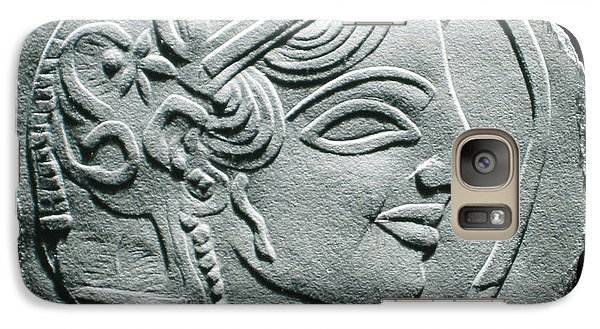 Galaxy Case featuring the relief Ancient Greek Relief Seal Drawing by Suhas Tavkar