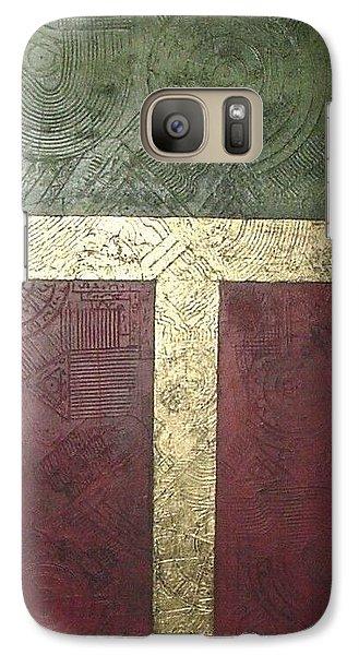 Galaxy Case featuring the painting Ancient Hieroglyphics by Bernard Goodman
