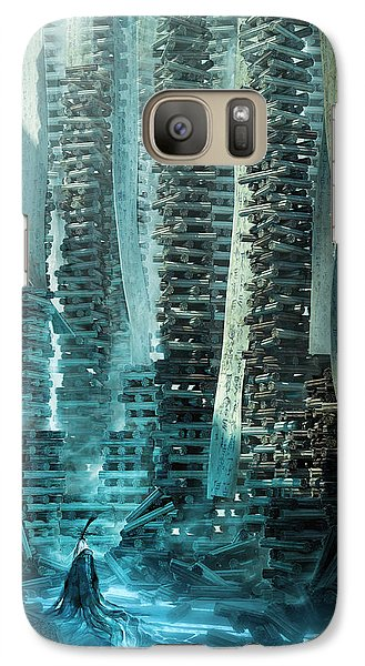 Galaxy Case featuring the digital art Ancient Library V1 by Te Hu