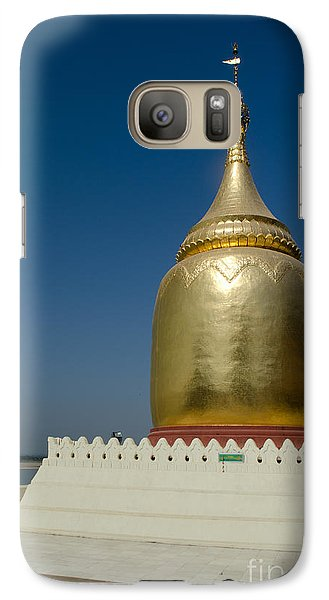 Galaxy Case featuring the photograph Ancient Riverside Stupa Along The Irrawaddy River In Burma by Jason Rosette