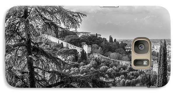 Galaxy Case featuring the photograph Ancient Walls Of Florence-bandw by Sonny Marcyan