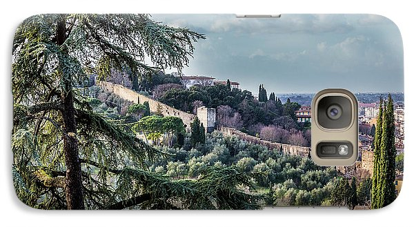 Galaxy Case featuring the photograph Ancient Walls Of Florence by Sonny Marcyan