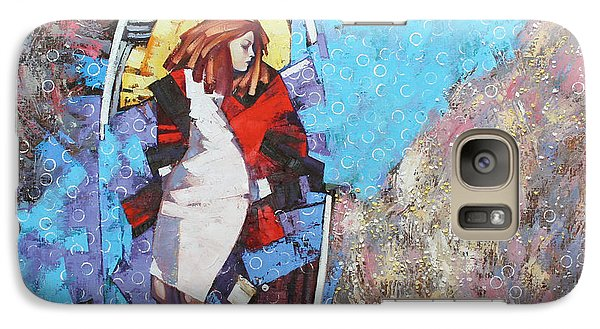 Galaxy Case featuring the painting And I Dreamed by Anastasija Kraineva