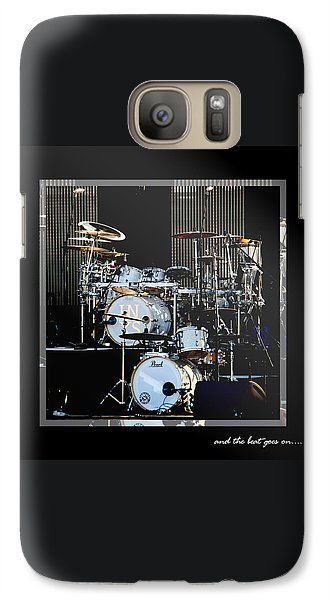 Drum Galaxy S7 Case - And The Beat Goes On.... by Holly Kempe