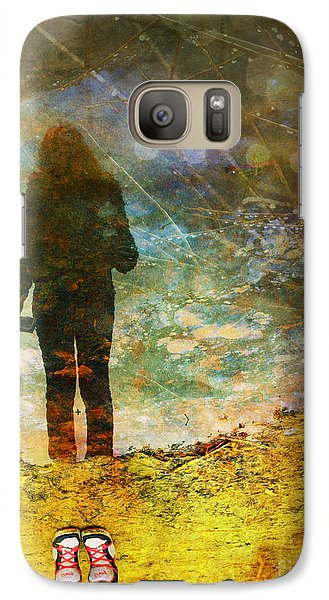 Galaxy Case featuring the photograph And Then He Turned Her World Upside Down by Tara Turner