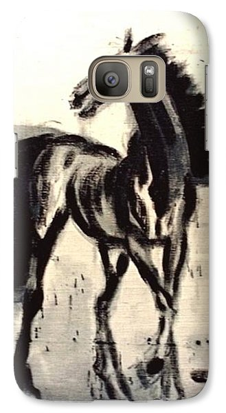 Galaxy Case featuring the painting Andalusian Colt by Jarmo Korhonen aka Jarko