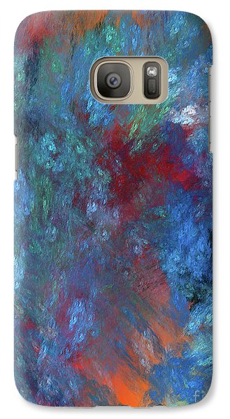 Galaxy Case featuring the digital art Andee Design Abstract 1 2017 by Andee Design