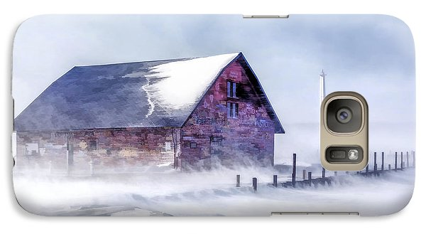 Galaxy S7 Case featuring the painting Anderson Dock Winter Storm by Christopher Arndt