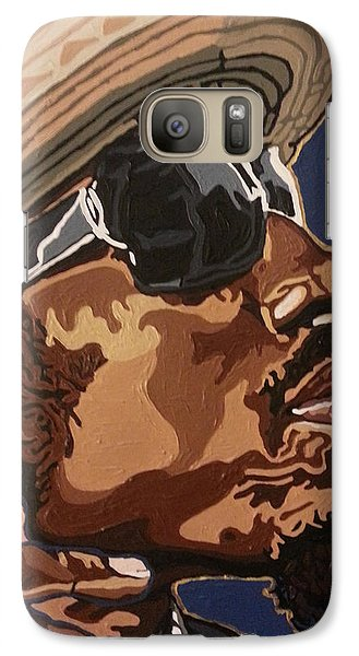 Galaxy Case featuring the painting Andre 3000 by Rachel Natalie Rawlins