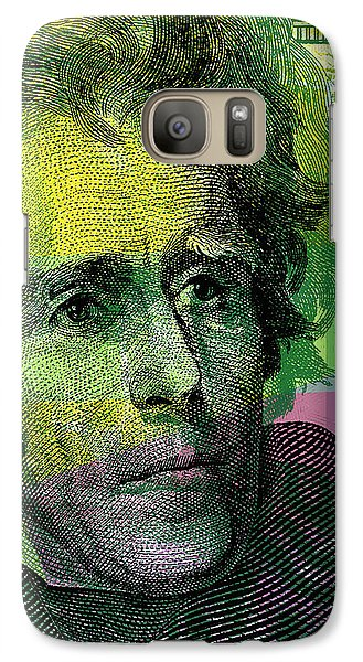 Galaxy Case featuring the digital art Andrew Jackson - $20 Bill by Jean luc Comperat