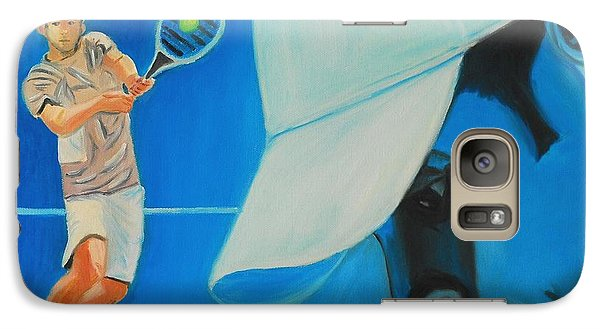 Galaxy Case featuring the painting Andy Roddick by Quwatha Valentine