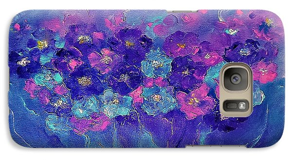 Galaxy Case featuring the painting Anemone by AmaS Art