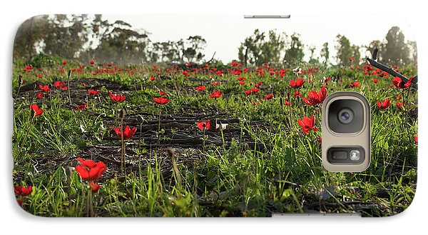 Galaxy Case featuring the photograph Anemones Forest by Yoel Koskas