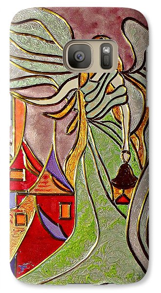 Galaxy Case featuring the painting Angel  by AmaS Art