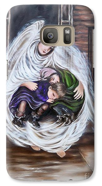 Galaxy Case featuring the painting Angel And The Orphans by Sigrid Tune