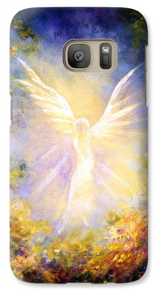 Galaxy Case featuring the painting Angel Descending by Marina Petro