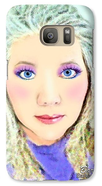 Galaxy Case featuring the photograph Angel Eyes by Barbara Tristan