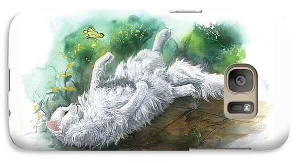 Galaxy Case featuring the painting Angel In The Morning by Sherry Shipley