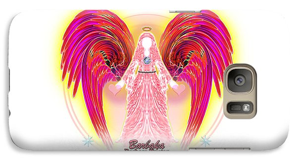 Galaxy Case featuring the digital art Angel Intentions Divine Timing by Barbara Tristan