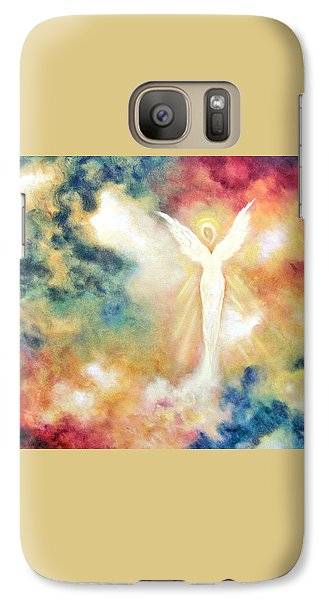Galaxy Case featuring the painting Angel Light by Marina Petro