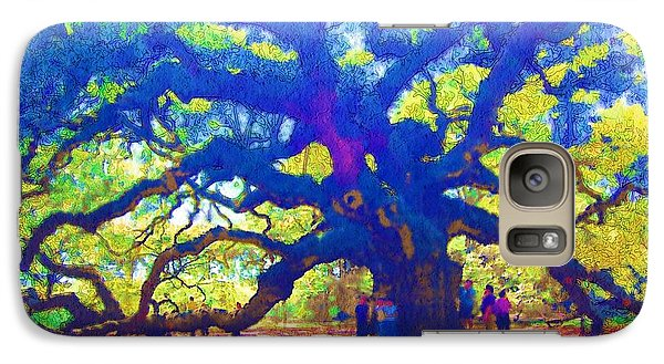 Galaxy Case featuring the photograph Angel Oak Tree by Donna Bentley