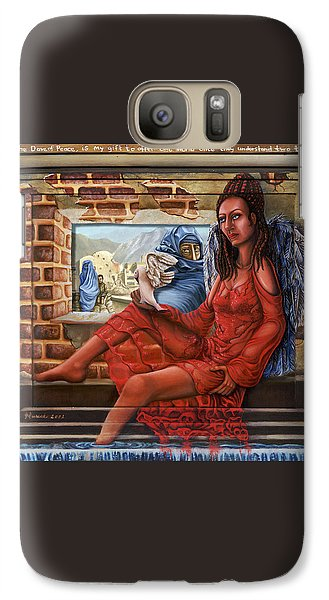 Galaxy Case featuring the painting Angel Of Peace by Karen Musick