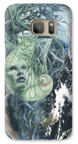 Galaxy Case featuring the painting Angel Of Peace by Ragen Mendenhall