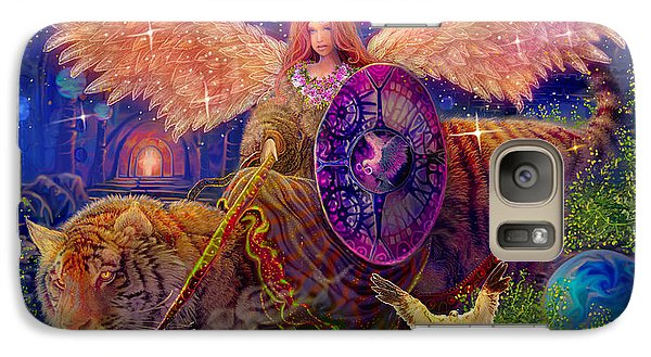 Galaxy Case featuring the painting Angel Tarot Card Angel Fairy Dream by Steve Roberts