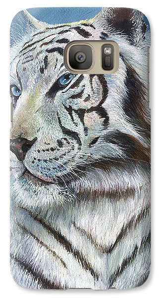 Galaxy Case featuring the painting Angel The White Tiger by Sherry Shipley