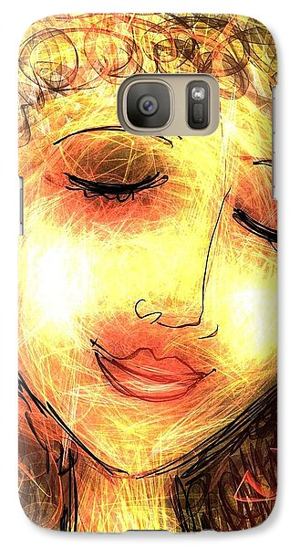 Galaxy Case featuring the digital art Angela by Elaine Lanoue