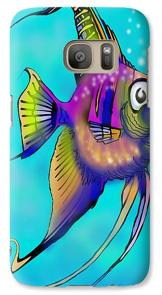 Galaxy Case featuring the painting Angelfish by Kevin Middleton